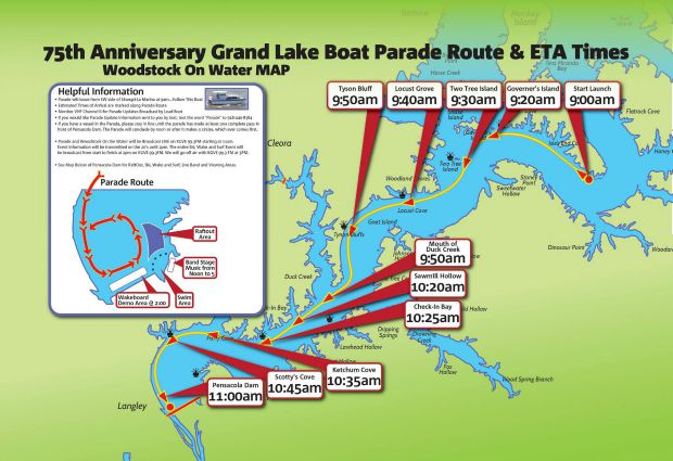 75th Anniversary Parade route
