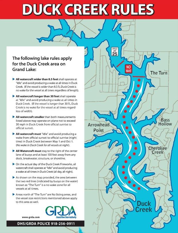 Grand Lake Ok Map : grand, Creek, Boating, Rules, Grand, Living