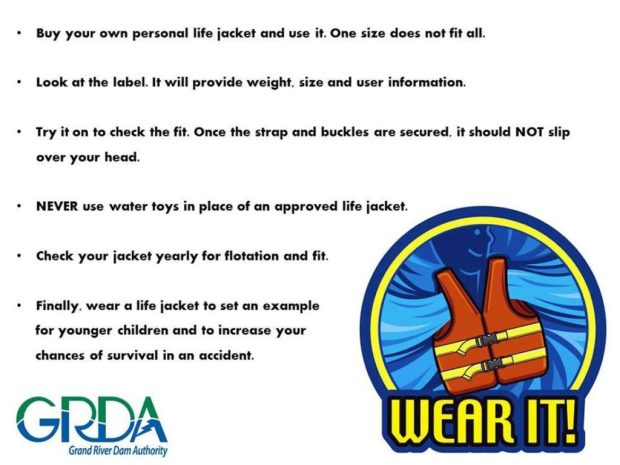 GRDA Life Jacket awareness
