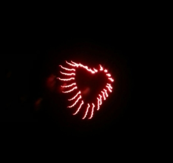 Heart Shaped Fireworks at Grand Lake