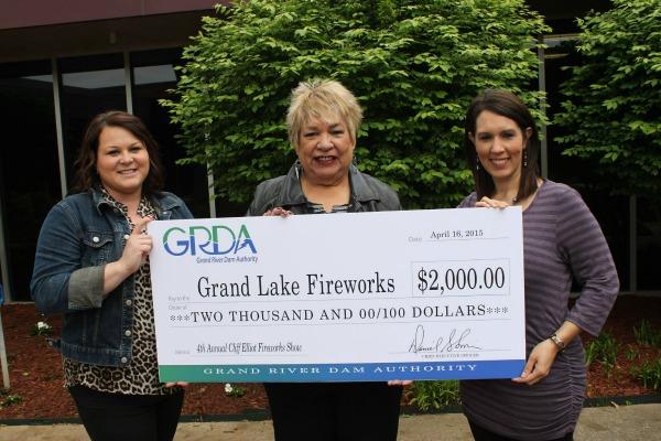 GRDA Fireworks donation