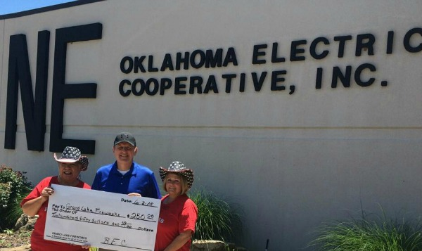 Northeast Oklahoma Elec Coop Fireworks donation