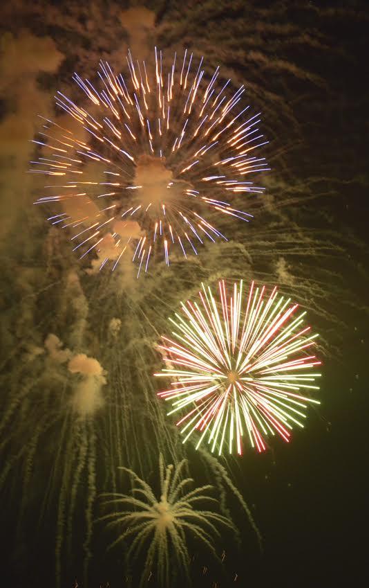 Fireworks at Grand Lake in Oklahoma