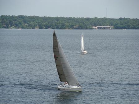 Sailing at Grand Lake Oklahoma