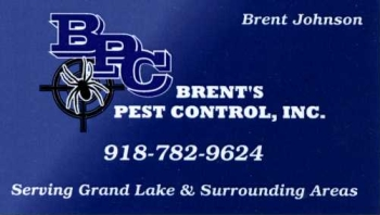 Brent's Pest Control Grand Lake Oklahoma