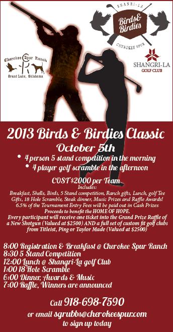 2013 Birds and Birdies at Grand Lake