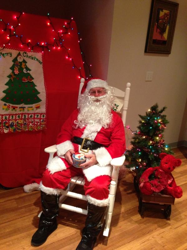 Santa Claus Visiting Har-Ber Village