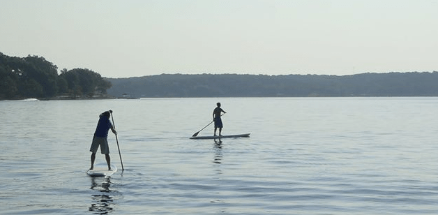 Grand Lake stand-up paddleboarding