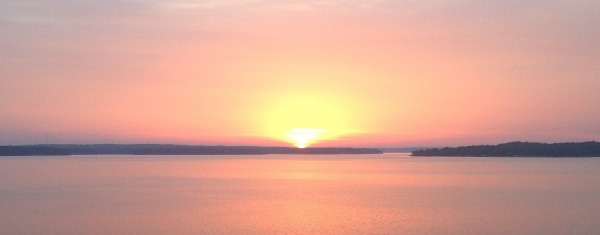 June sunrise Grand Lake OK