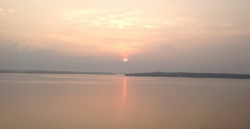 August sunrise Grand Lake OK