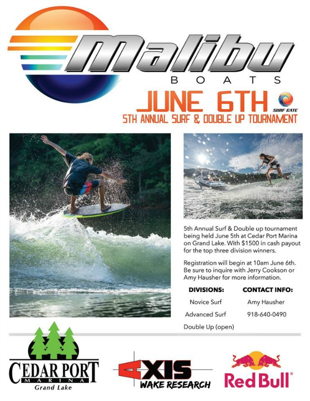 Surf and Wake Board Tournament Grand Lake Ok 2015