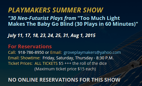Grove Playmakers summer 2015 show