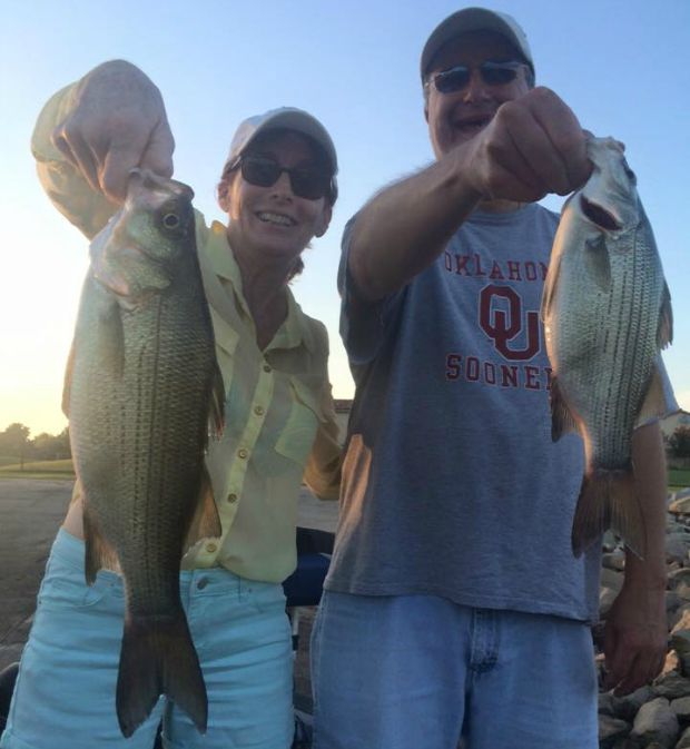 White bass in July at Grand Lake