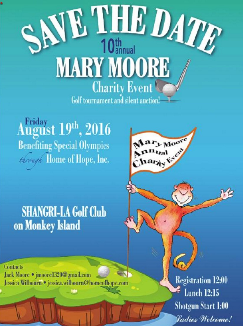 2016 Mary Moore Golf Tournament and Auction