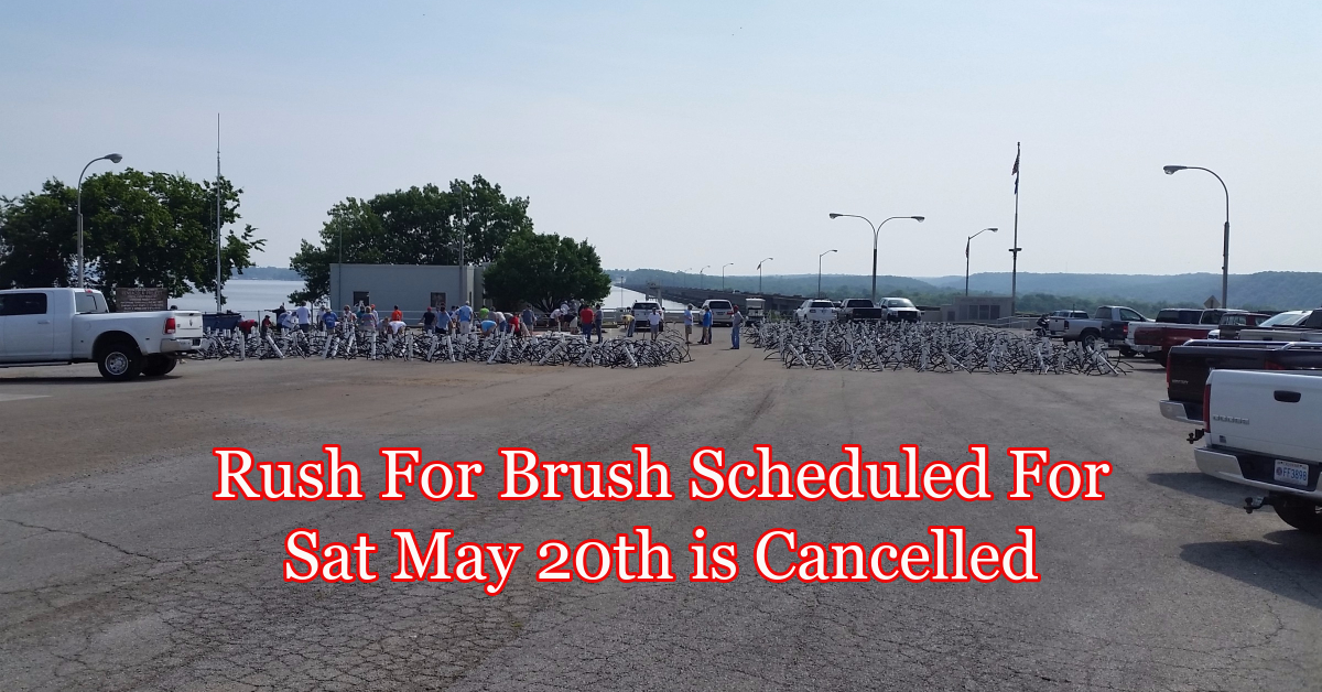 Rush For Brush cancelled