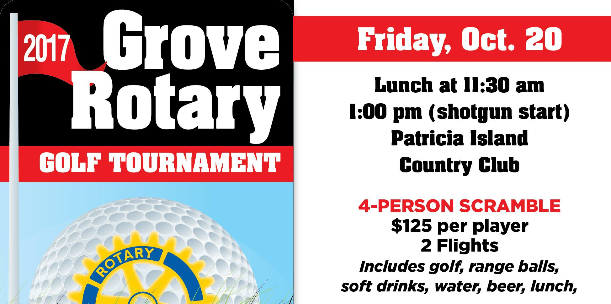 2017 Grove Rotary Golf Tournament