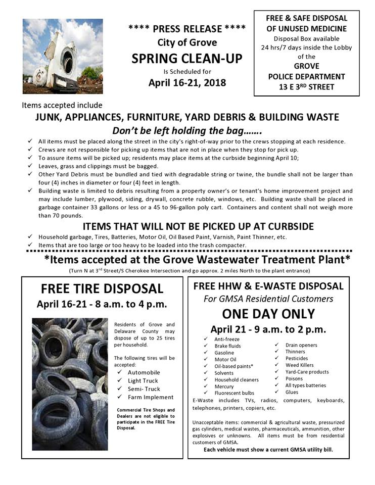 City of Grove Spring Clean-up