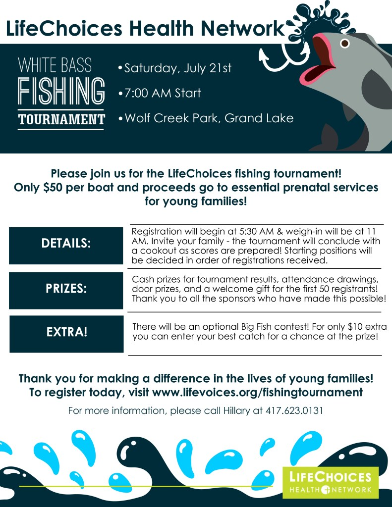 White bass tournament flyer