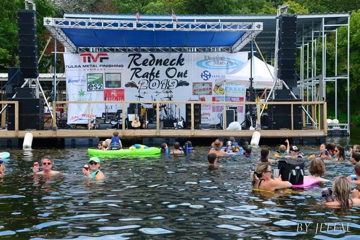 Redneck Raft-Out at Grand Lake OK