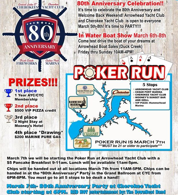 2020 Welcome Back Weekend and Poker Run