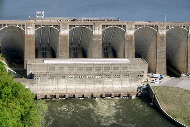 Pensacola Dam Electric Powerhouse