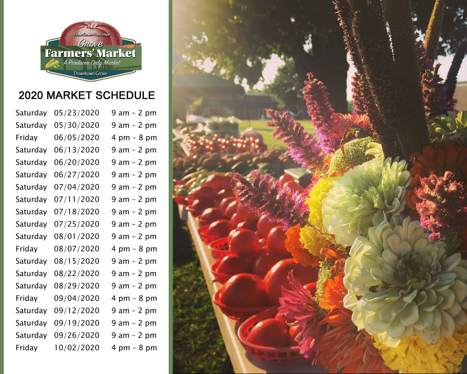 Grove Farmer's Market 2020