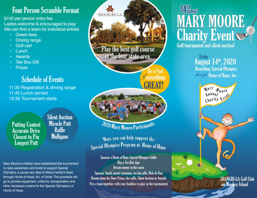 2020 Mary Moore Charity Golf Tournament and Silent Auction