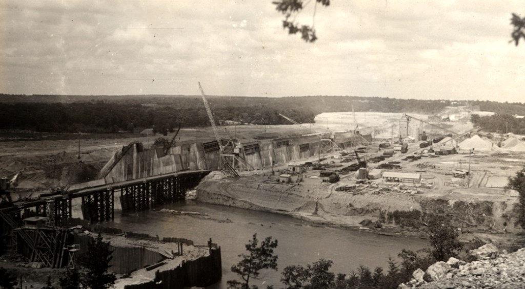 Pensacola Dam construction 1939