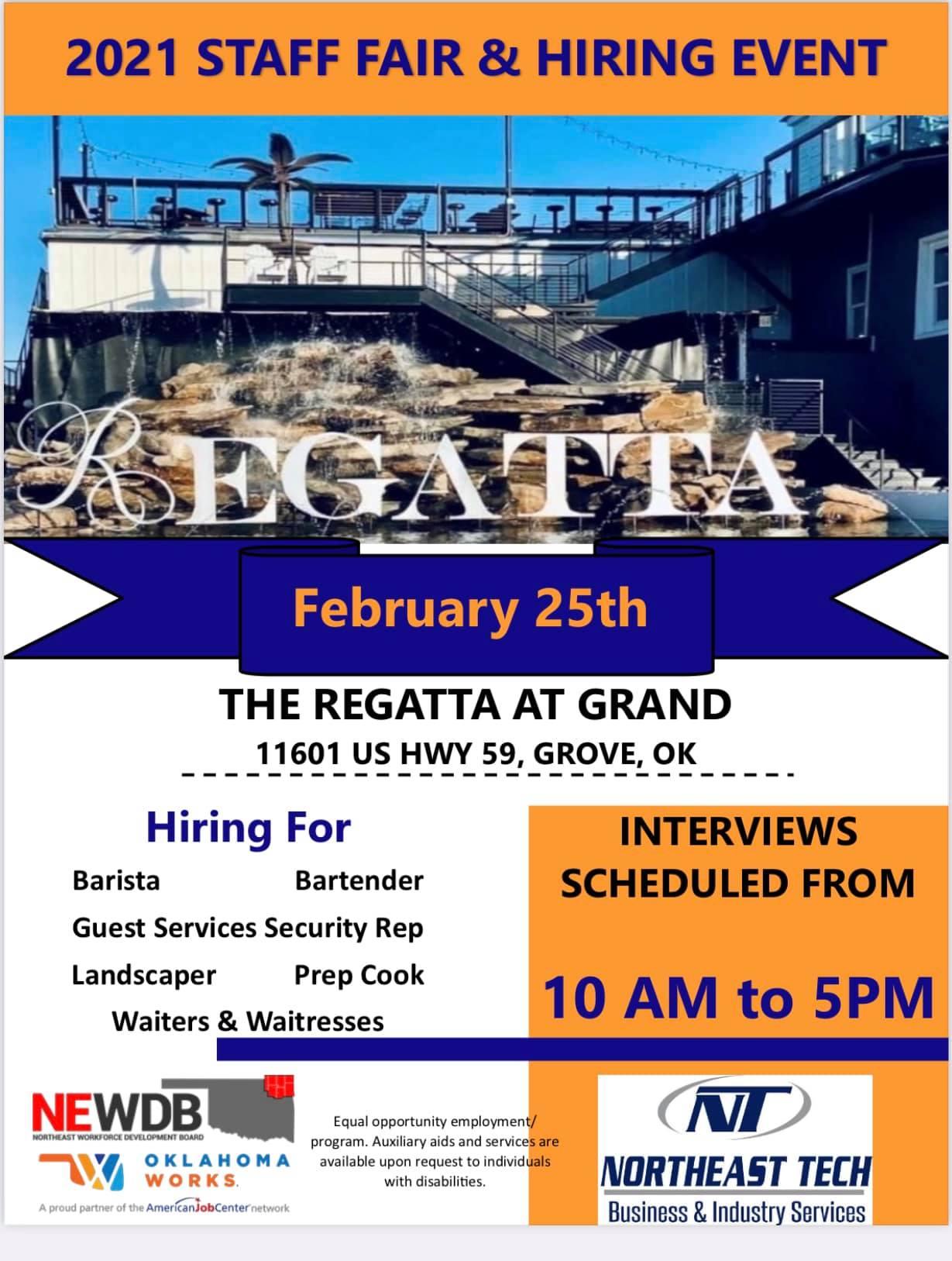 Regatta on Grand Job Fair 2021
