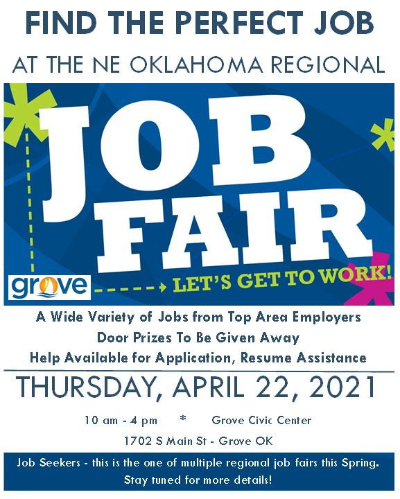 Grove area Spring Job Fair 2021