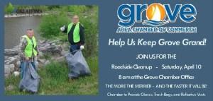 Grove OK roadside cleanup