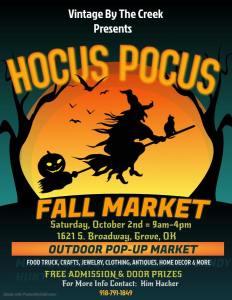 Vintage Pop Up Market Grove October