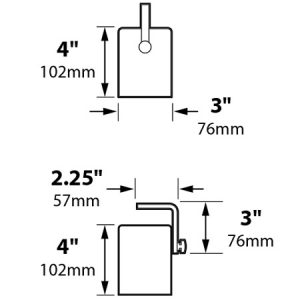 Down Light Canister 3″ w/ Aiming Bracket Incandescent