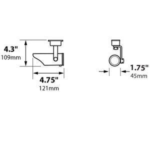 Surface Mount Bullet with Aiming Bracket 1.75″ Copper 12v