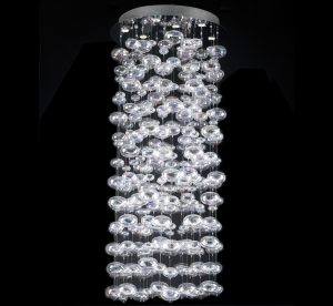 Bubbles Collection 18 Light Extra Large Glass Chandelier