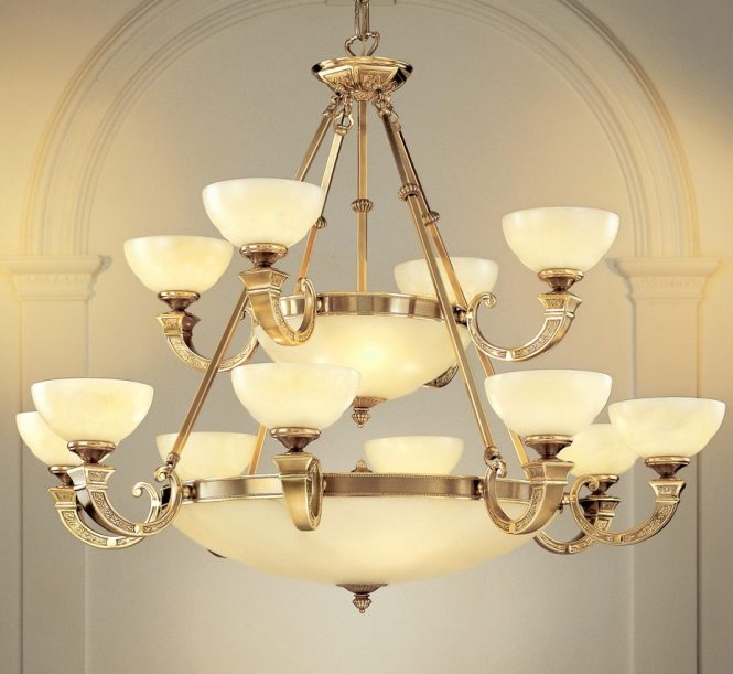 Mallorca Collection 18 Light Extra Large Alabaster Chandelier