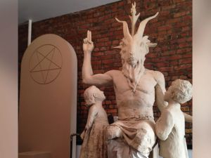 Satan statue 2
