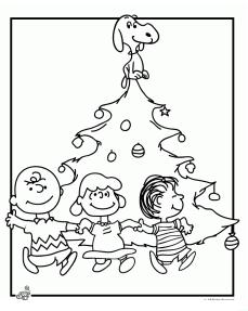 charlie brown christmas coloring