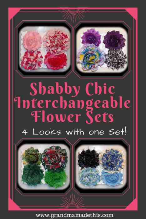 Shabby Chic Interchangeable Flower Sets