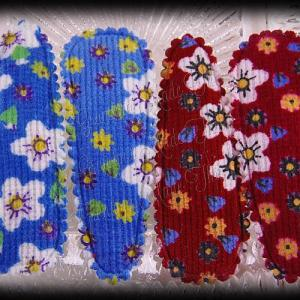 50mm Snap Clippies Floral Blue Red Pairs