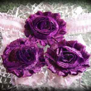Barefoot Sandals Matching Headband Dark Deep Purple Shabby Lilac