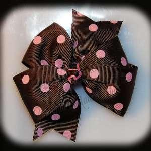Polka Dots Large Quad Pinwheel Hair Bows