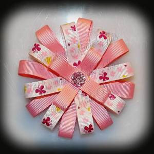 Butterfly Loopy Flower Hair Bow