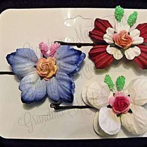 Mulberry Paper Butterfly Bobby Pin Set 11