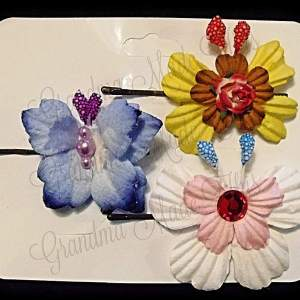 Mulberry Paper Butterfly Bobby Pin Set 16