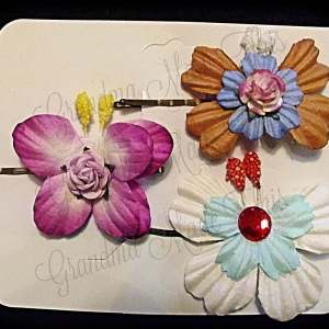 Mulberry Paper Butterfly Bobby Pin Set 17