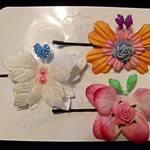 Mulberry Paper Butterfly Bobby Pin Set 2