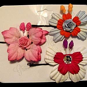Mulberry Paper Butterfly Bobby Pin Set 7