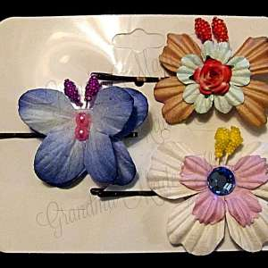 Mulberry Paper Butterfly Bobby Pin Set 8