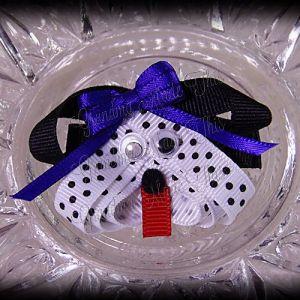 Dalmatian Puppy Ribbon Sculpture Blue Bow